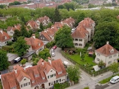 Die Barbarasiedlung in München-Schwabing